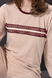Домашний комплект с бордовым кружевом  Rebecca & Bros