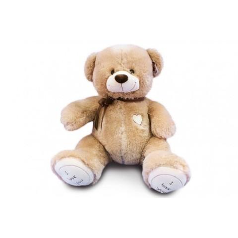 Игрушка Плюшевый медведь Феликс I Love You (230 см). Кофейный
