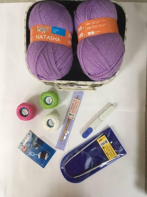 Наполнение набора для вязания