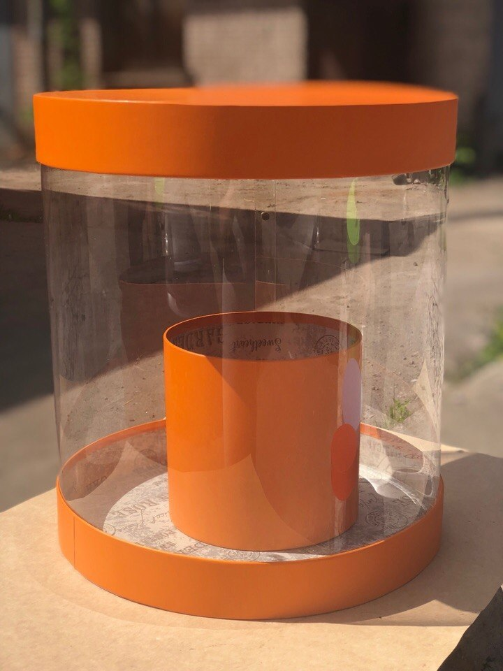 Коробка аквариум 32см Цвет : Оранжевый  . Розница 700  рублей .
