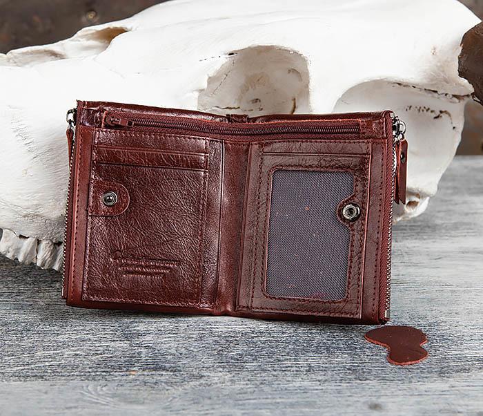 WL250-3 Красный мужской кошелек из натуральной кожи фото 06