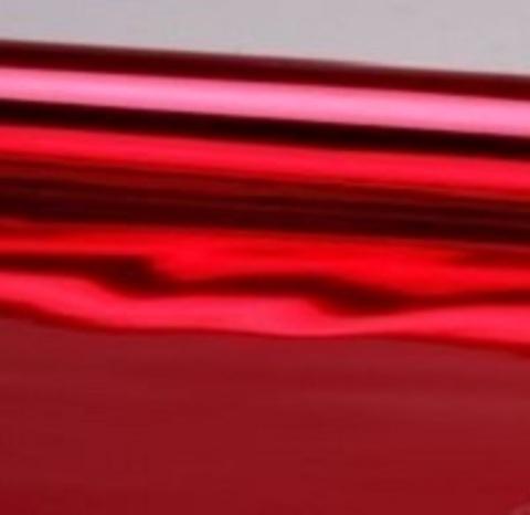 Пленка металлизированная (размер: 70см х 10 ярдов) Цвет: красный