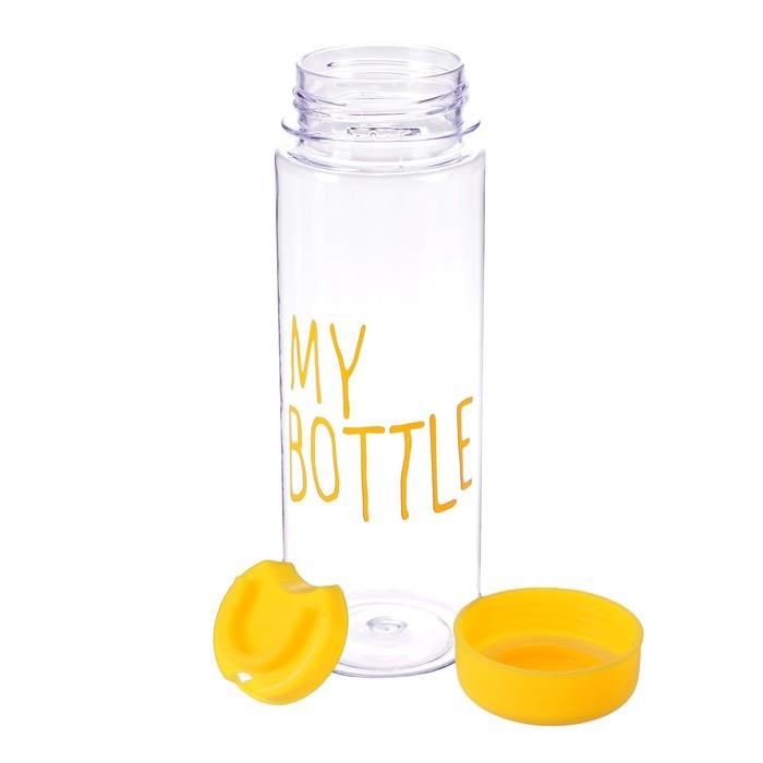 Бутылка в чехле My Bottle 600 мл желтая