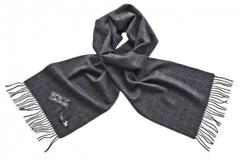 Шарф кашемировый серый 70140