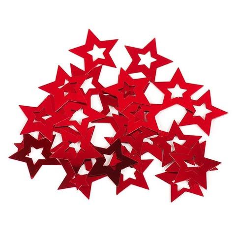 Конфетти Звезда в звезде, Красный, 17 гр