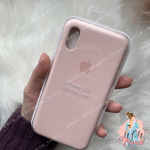 Чехол iPhone X/XS Silicone Case /pink sand/ розовый песок original quality