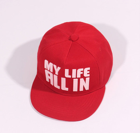 """Кепка """"My life all in"""" красная"""