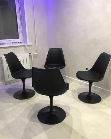 Интерьерный вращающийся стул Tulip Style (PP/PU)