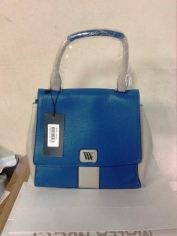 Голубая сумка с одной ручкой