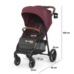 Коляска прогулочная Kinderkraft Grande 2020 Grey
