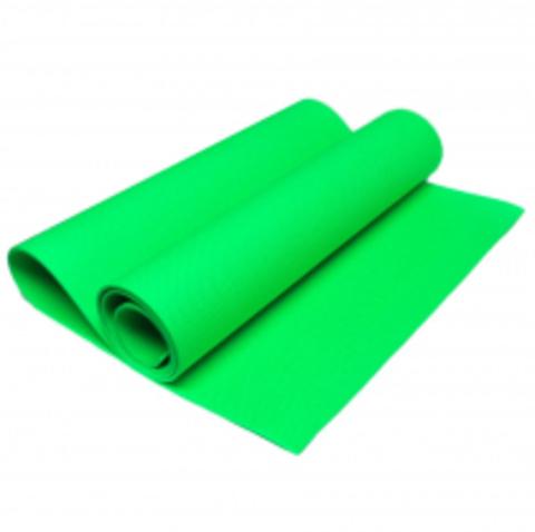 KB6104 Коврик для йоги ЭВА, салатовый 180x65x0,4 см