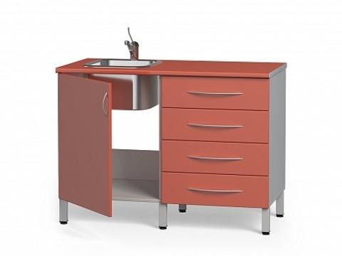 Комплект медицинской металлической мебели БТ-04+БТ-02/4-110 - фото