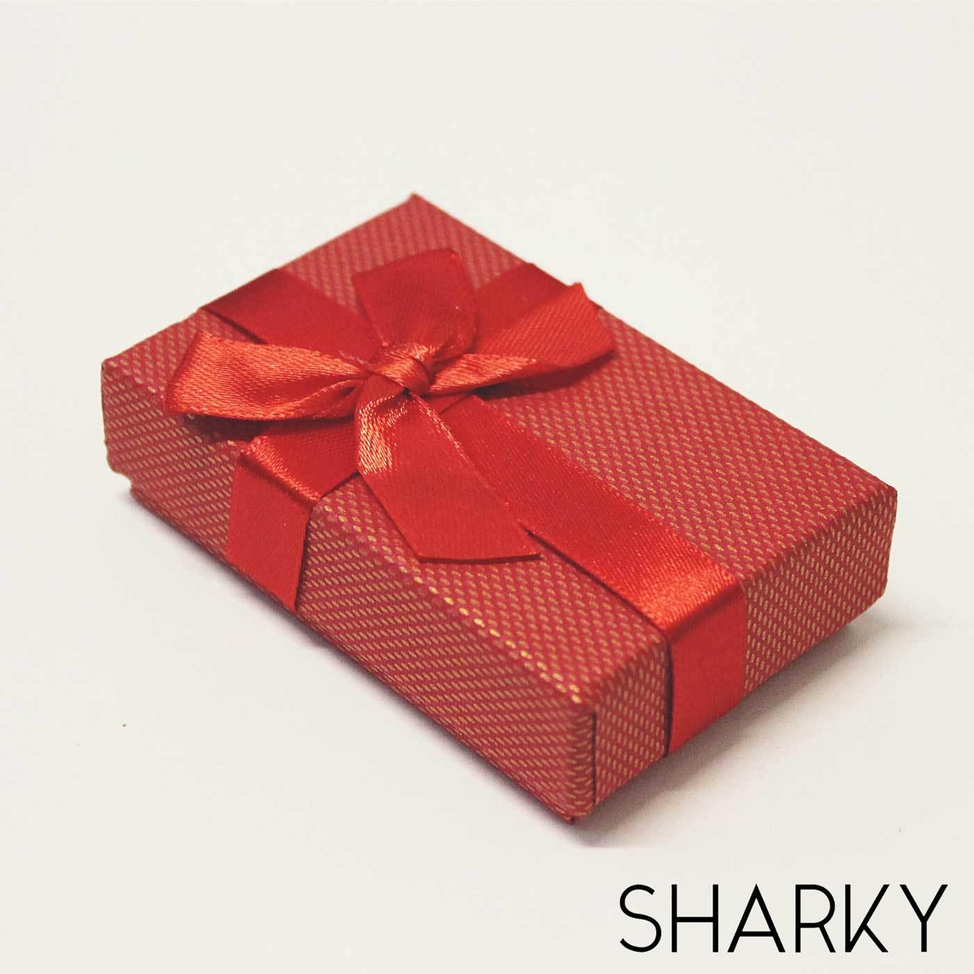 Подарочная красная коробочка с бантом / Подарочная упаковка Отрадное