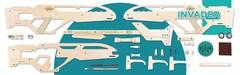 Полуавтоматический карабин INVADER от TARG - деревянный конструктор, сборная модель, 3d пазл