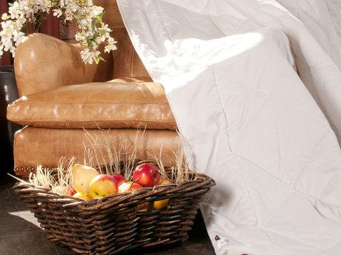 Одеяло шерстяное 200x220 «Merino Wool Grass» легкое