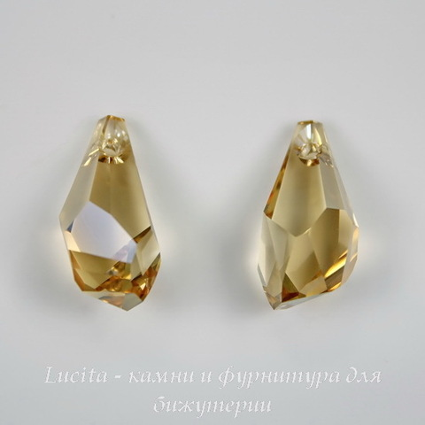 6015 Подвеска Сваровски Polygon Drop Crystal Golden Shadow (17 мм) ()