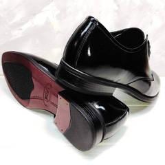 Классические черные туфли мужские кожаные Ikoc 2118-6 Patent Black Leather.