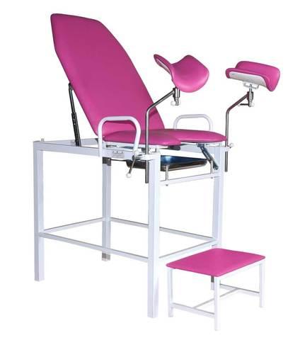 Кресло гинекологическое-урологическое «Клер» с фиксированной высотой модель КГФВ 01п с передвижной ступенькой - фото