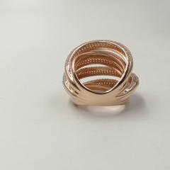 Кольцо из золоченого серебра с цирконами в стиле  De Grisogono