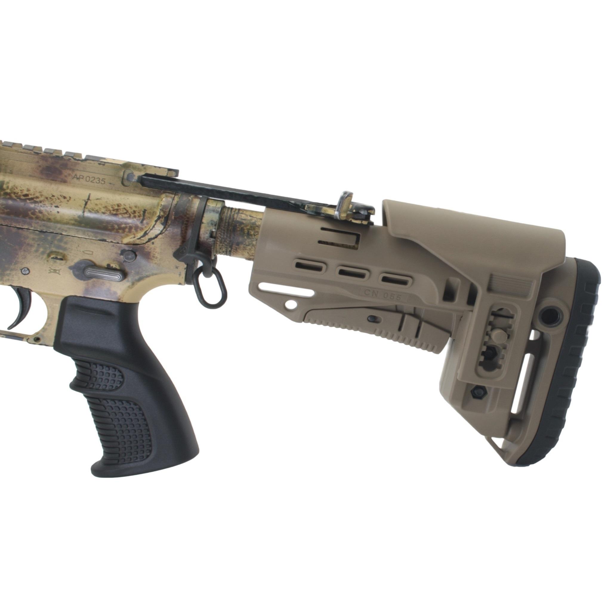 Короткий подщечник для AR для приклада TBS Compact, DLG Tactical - в сборе, детально