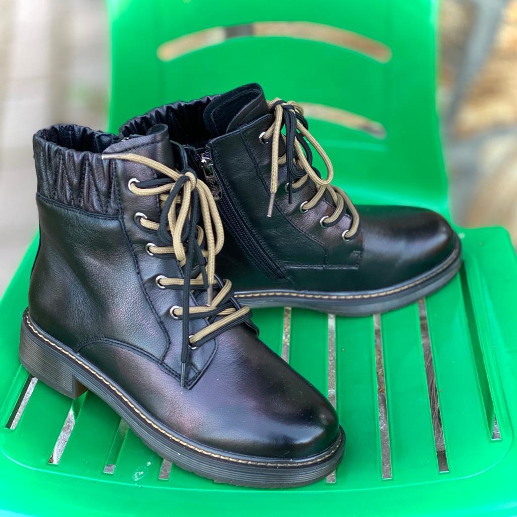 Madella Ботинки XUS-02423-1A-KW черн кожа
