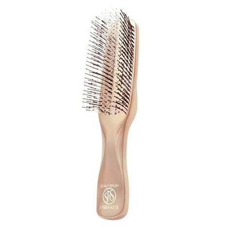 Расческа Scalp Brush Gold c длинной ручкой (розовое золото)
