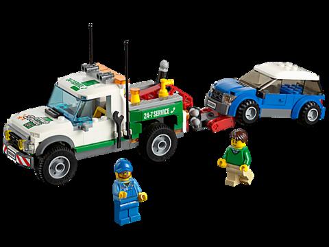 LEGO City: Буксировщик автомобилей 60081 — Pickup Tow Truck — Лего Сити Город