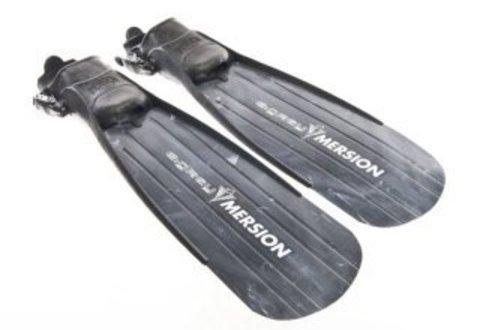 Ласты Imersion E:GREY для подводной охоты серые с открытой пяткой, 68см