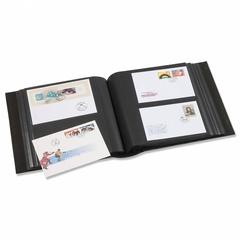Альбом для 200 FDCs или конвертов 195x130 мм, с шубером, синий