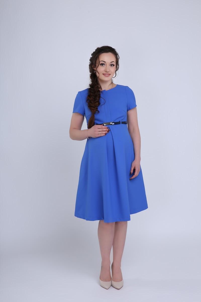 Фото платье для беременных и кормящих Mama i Ja от магазина СкороМама, синий, размеры.