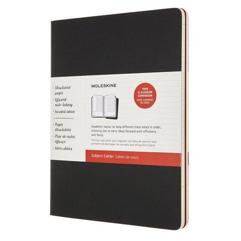 Блокнот Moleskine CAHIER SUBJECT CH4STNB02 XLarge обложка картон 192стр. линейка мягкая обложка черный/красный