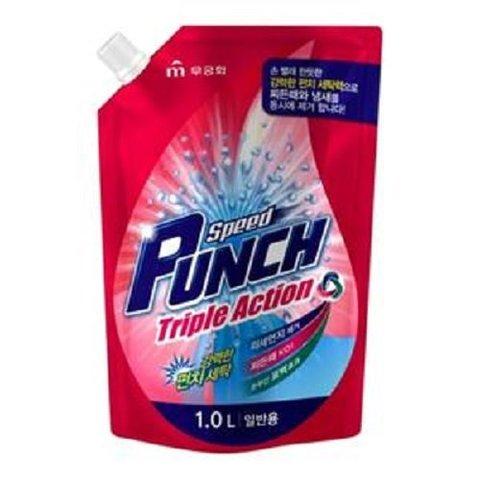 Жидкое средство для стирки, глубокоочищающее, быстрого действия Speed Punch Triple Action