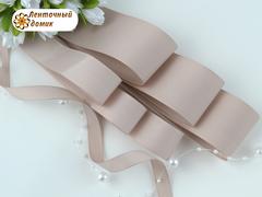 Лента репсовая ваниль ширина 9, 22 и 38  мм