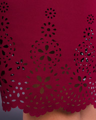 Ажур. Гарна сукня size plus. Бордо.
