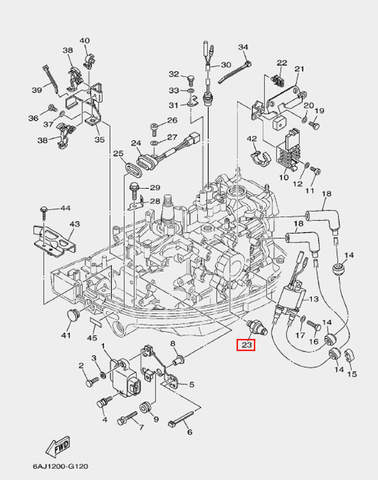 Датчик давления масла для лодочного мотора F20 Sea-PRO (12-23)
