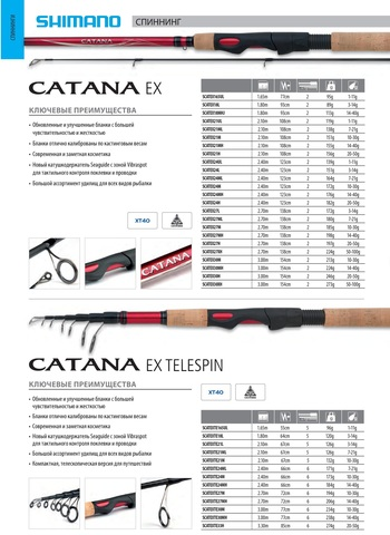 Спиннинг Shimano Catana EX Spinning 270 ML, тест 7-21 г.