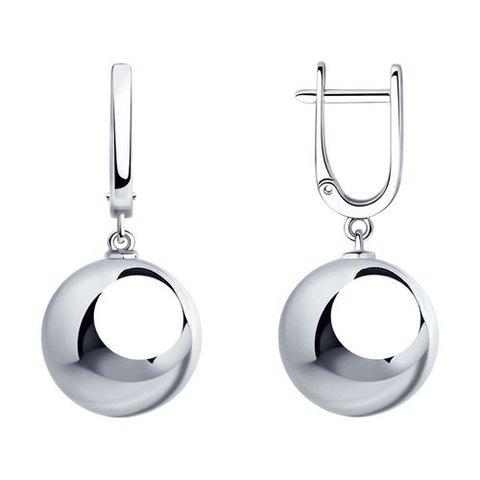 94023672 - Серьги из серебра с подвесками шарами