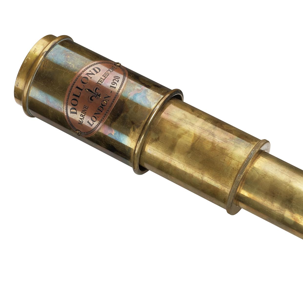 Сувенирная подзорная труба Dollond London  в кожаном футляре