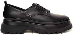 Осенние туфли женские на низком ходу кожаные Marani magli M-237-06-18 Black.