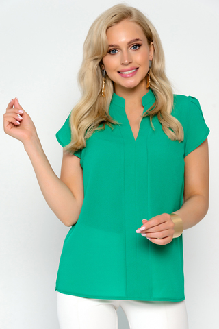 <p>Изящная блузка классического стиля. Гармонично сочетается с множеством фасонов брюк и юбок. Длина блузки: 44-52р - 59-62см</p>