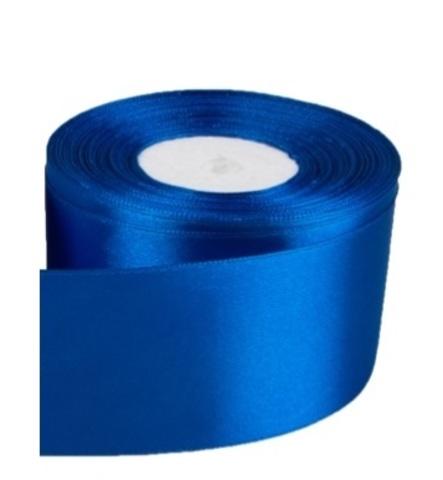 Лента атласная (размер: 50мм х 30м) Цвет:синяя