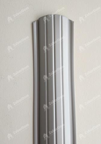 Евроштакетник металлический 110 мм RAL 9006 полукруглый 0.5 мм