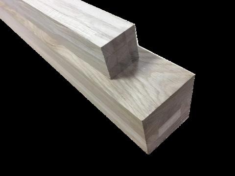 Мебельный брус - дуб цельноламельный 100мм х 100мм х 1200мм