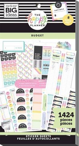 Блокнот со стикерами для ежедневника Create 365 Happy Planner Sticker Value Pack-BIG - BUDGET, 1424 шт