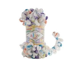 Пряжа Alize Puffy Color цвет 7539