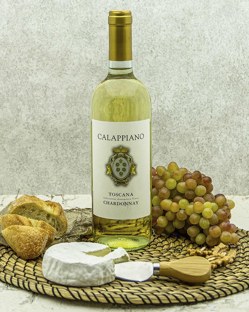 Вино Fattoria di Calappiano Шардоне Калаппиано Белое Сухое 2018 г.у. 12,5%, 0,75 л.