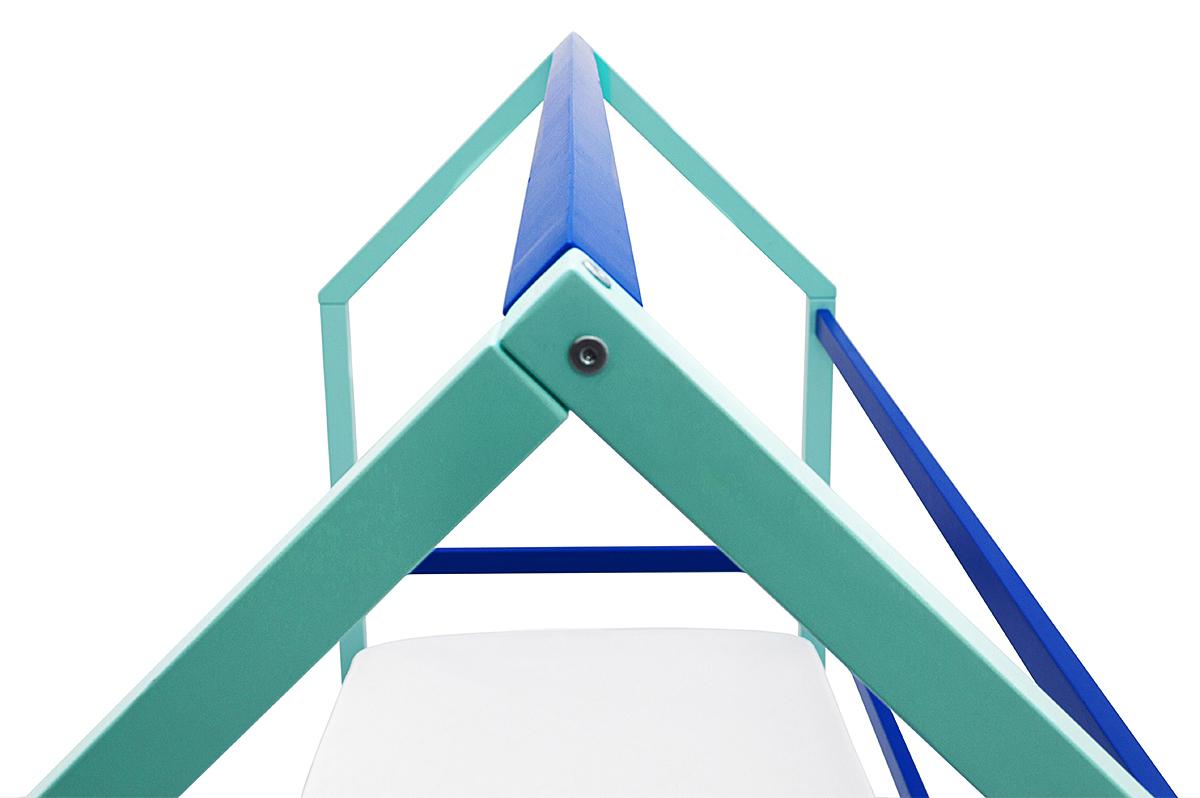 Кровать-домик Монтессори «Svogen» мятно-синий