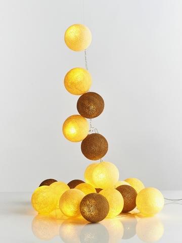 Гирлянда из хлопковых шариков Каракум