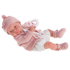 Munecas Antonio Juan Кукла-младенец Reborn Эмилия в розовом 52см (8166)