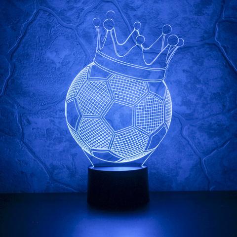 Лампа Футбольный мяч с короной